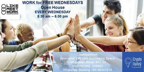 WORK for FREE WEDNESDAYS - LikeMeetWork Open House tickets