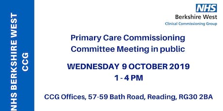 Primary Care Commissioning Committee (PCCC) - 9 October 2019 tickets