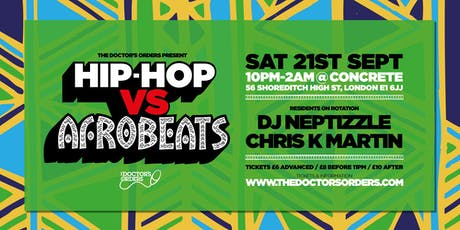 Hip-Hop vs Afrobeats tickets