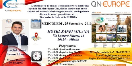 Gea Partners presenta QN EUROPE tickets