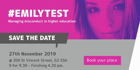 Emilytest - Managing Misconduct in Higher Education 2019 tickets