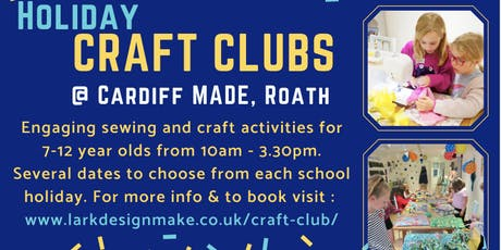 October Holiday Craft Club for 7-12 year olds  tickets
