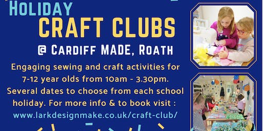 October Holiday Craft Club for 7-12 year olds