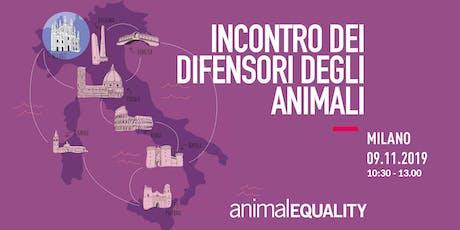 Incontro con Animal Equality Italia - Milano biglietti