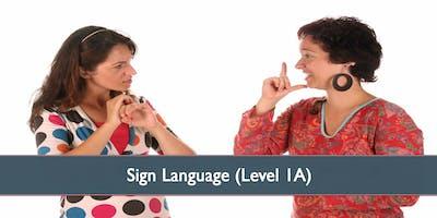 Sign Language (Level 1C) - October 2019