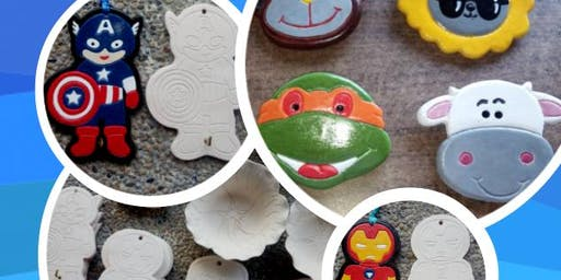 CRAFTS GALORE : Ceramic Painting - Colour Your Favourite Characters