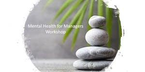 Mental Health for Managers Workshop