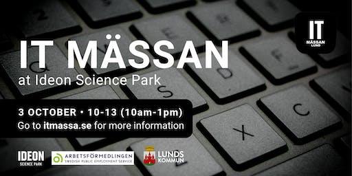 IT Mässan at Ideon Science Park with Arbetsförmedlingen