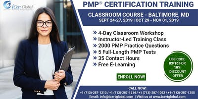 PMP® Certification Training Course in Baltimore, MD, USA | 4-Day PMP Boot Camp