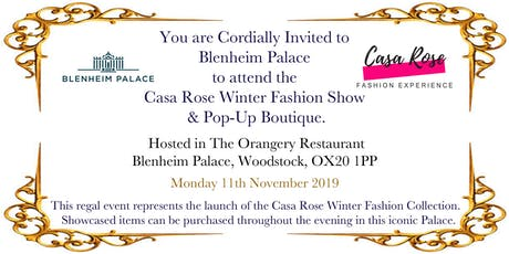 Blenheim Palace & Casa Rose Fashion Show Winter 2019 tickets