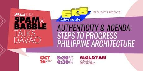 SPAM x BABBLE Talks Davao 2019 tickets