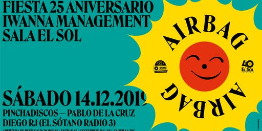 Airbag en Madrid. El Sol. Fiesta 25 aniversario I Wanna Management