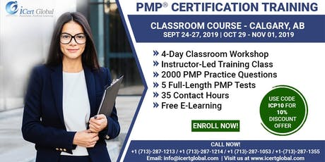 PMP® Certification Training Course in Calgary, AB | 4-Day PMP Boot Camp  tickets