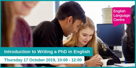 Introduction to Writing a PhD in English  tickets