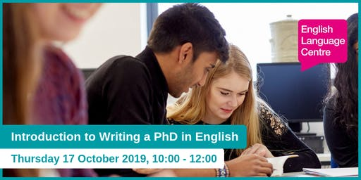 Introduction to Writing a PhD in English
