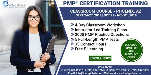PMP® Certification Training Course in Phoenix, AZ | 4-Day PMP Boot Camp