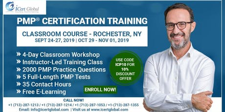 PMP® Certification Training Course in Rochester, NY   4-Day PMP Boot Camp  tickets