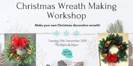 Christmas Wreath Making Workshop with mulled wine and festive treats tickets