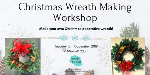 Christmas Wreath Making Workshop with mulled wine and festive treats