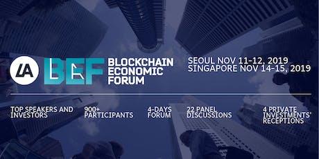VII BEF Forum, Seoul, Singapore, Nov 11-15, 2019 tickets