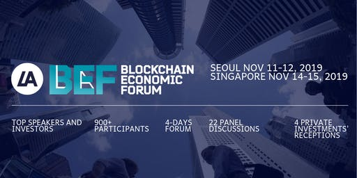 VII BEF Forum, Seoul, Singapore, Nov 11-15, 2019