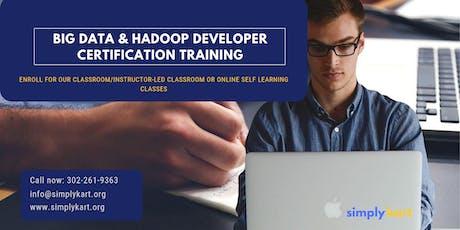 Big Data and Hadoop Developer Certification Training in  Kelowna, BC tickets