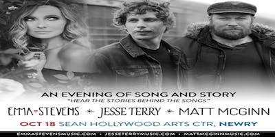 An Evening of Americana Songs and Stories with Jesse Terry, Matt McGinn and Emma Stevens