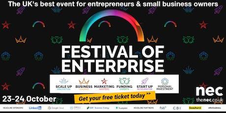 Festival of Enterprise - 23-24 October 2019, NEC Birmingham tickets