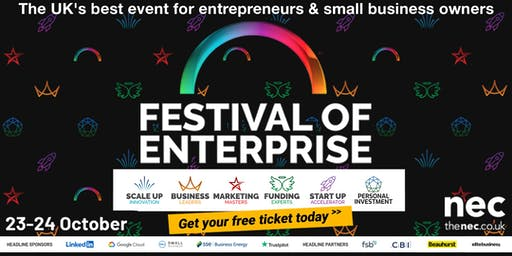 Festival of Enterprise - 23-24 October 2019, NEC Birmingham
