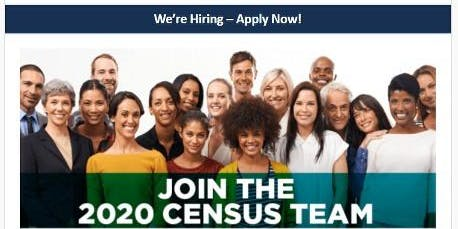 US Census 2020 Job Opportunities and Recruitment Event