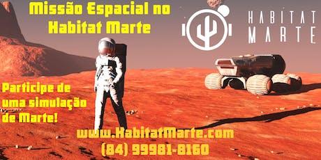 Missão espacial no Habitat Marte - 4 e 5 de outubro ingressos