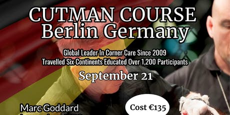 Cutman Course Berlin Germany Tickets