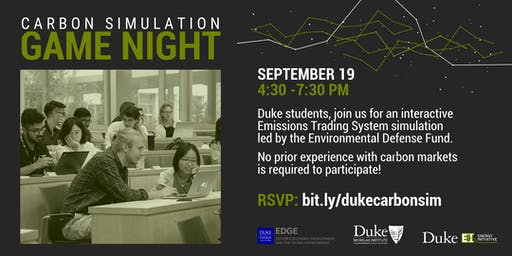 Carbon Trading Simulation, Sept. 19, 2019
