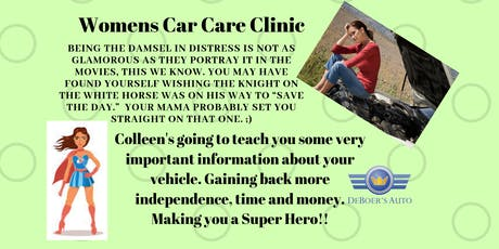 Women's Car Care Clinic 10-19-19 tickets