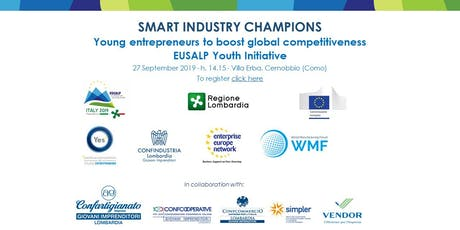 SMART INDUSTRY CHAMPIONS Young entrepreneurs to boost global competitivenes biglietti