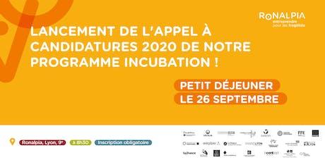 Petit déjeuner Lyon : Lancement Appel à projets Incubation billets