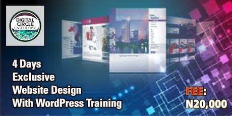 4 Days Exclusive Website Design With WordPress Training tickets
