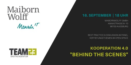 "Kooperation 4.0: ""Behind the scenes"" bei MaibornWolff & Team23"