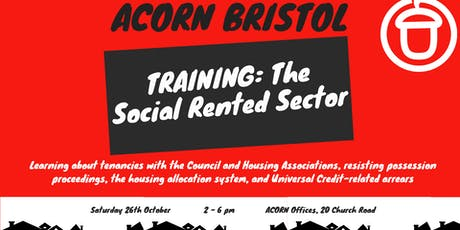 ACORN Training Days: The Social Rented Sector tickets