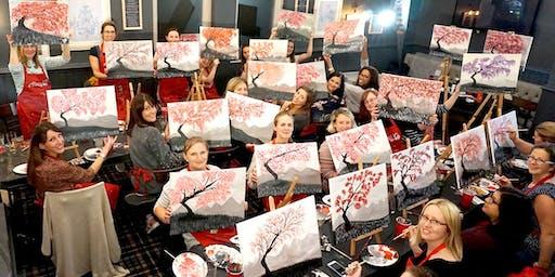 Cherry Blossom Brush Party - Tetbury