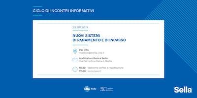 CNA Biella e Banca Sella per le imprese: nuovi sistemi di pagamento e di incasso