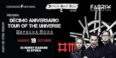 DEPECHE MODE - 10mo ANIVERSARIO Tour of the Universe entradas