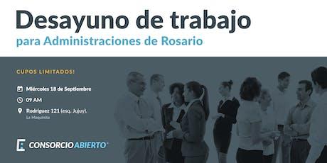 Desayuno de trabajo para Administraciones de Rosario entradas