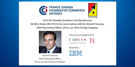 CXO Rendezvous with Mr. Benoit Creneau, Chief Operating Officer, Proex tickets