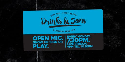 Drinks & Jams 16th Sept ft: Mike Riley