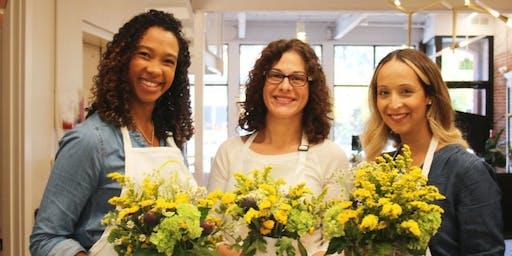 Fall Florals! Flower Arranging Workshop at PRISM