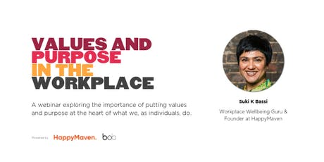 Values and Purpose in the Workplace (Webinar) tickets