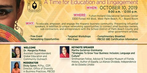 Inaugural Hispanic History Month Celebration: A Time for Education and Engagement 2019