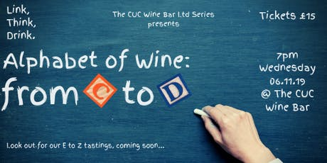 'Alphabet of Wine': From C to D tickets