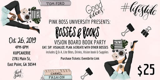 Pink Boss University Presents: Bosses & Books Vision Board Book Party